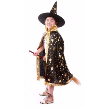 Kids Wizard Costume - Black