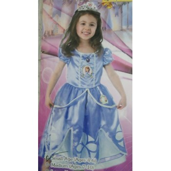 Sofia Costume For Girls Blue
