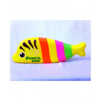 Fish Shaped Pencil Box Yellow