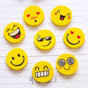 Smile Face Erasers Rubber