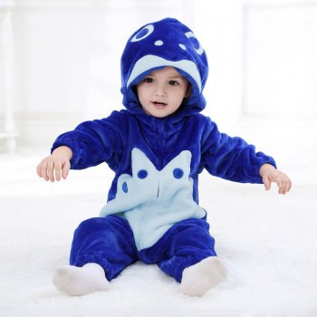Blue Fish Romper for Babies